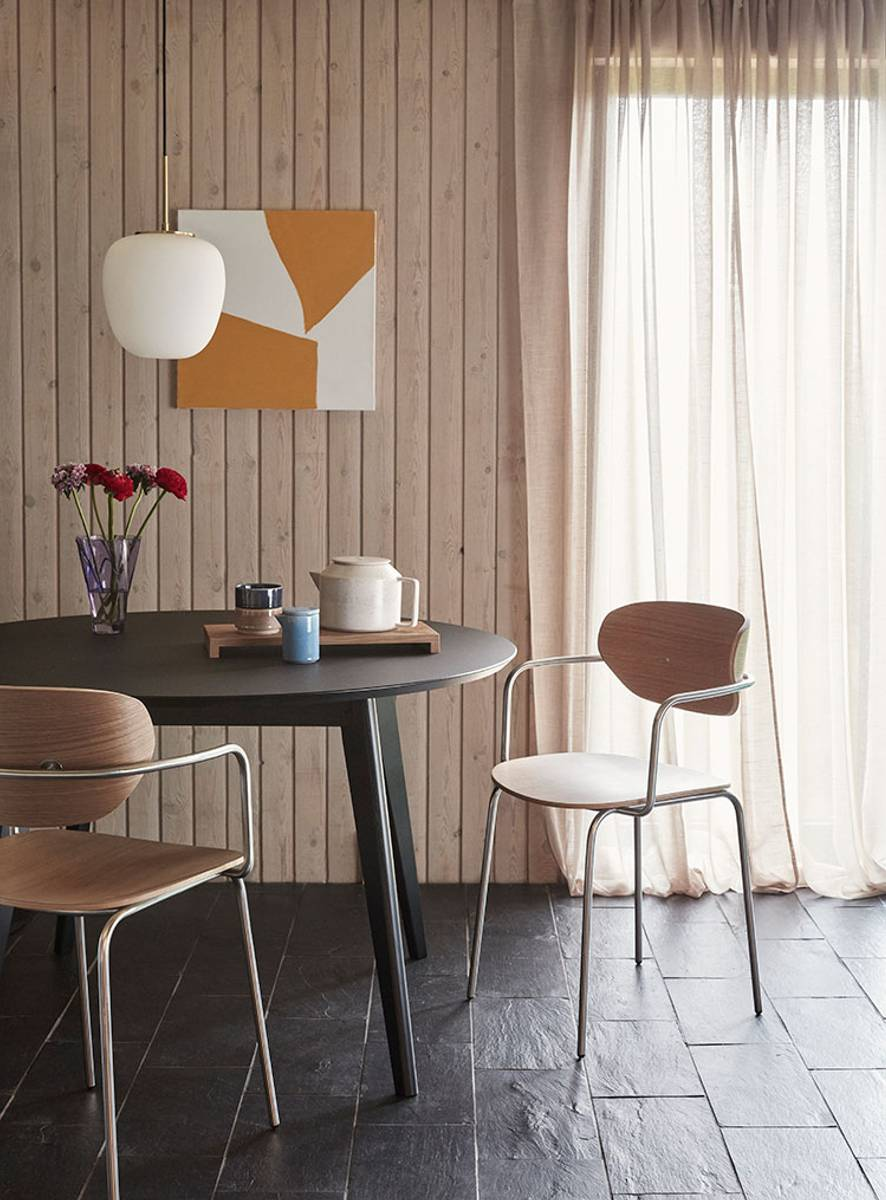 Spisestol i eik og rustfritt stål - Hübsch